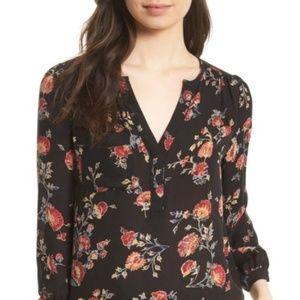 Joie Tops - JOIE  Brittin Black Floral Printed Silk Blouse